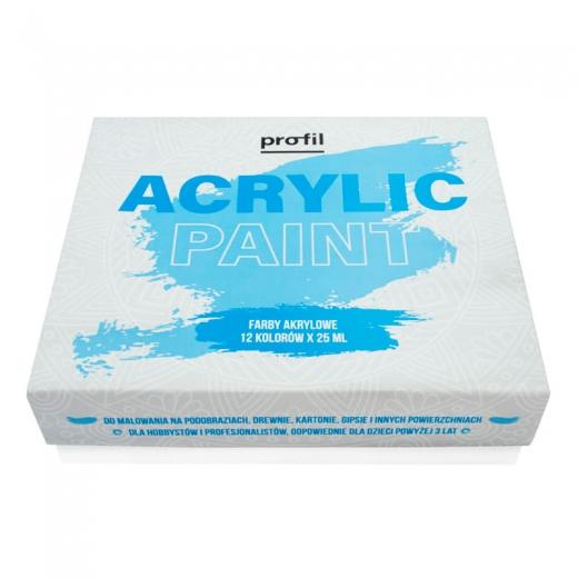 Profil acrylic paint zestaw farb akrylowych 12x25ml