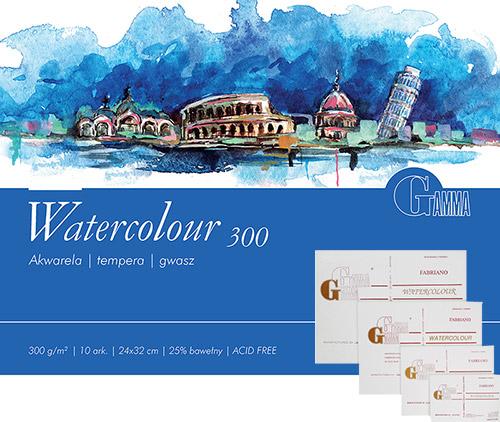 Blok Gamma watercolour 10 arkuszy 300g