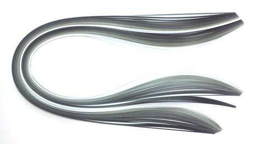 Paski do quillingu, odcienie szarości 3, 5, 10 mm