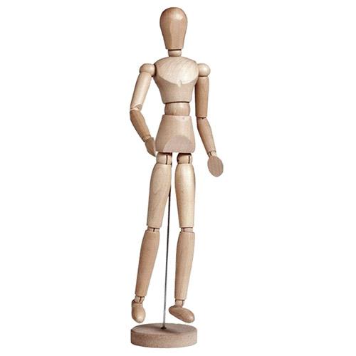 Manekin drewniany (mężczyzna) - wysokość 30 cm