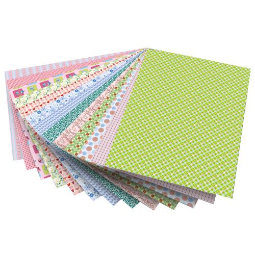 Blok z papierem do scrapbookingu 26 arkuszy - romantik