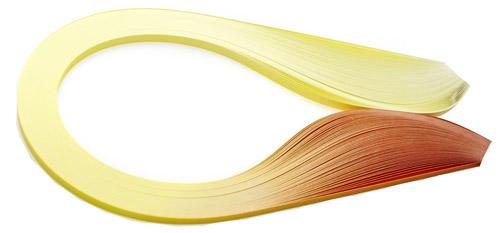 Paski do quillingu, cieniowane żółte 3, 5, 10 mm