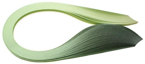 Paski do quillingu, cieniowane zielone 3, 5, 10 mm