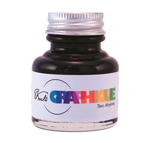 Tusz akrylowy czarny kali graphique 30ml