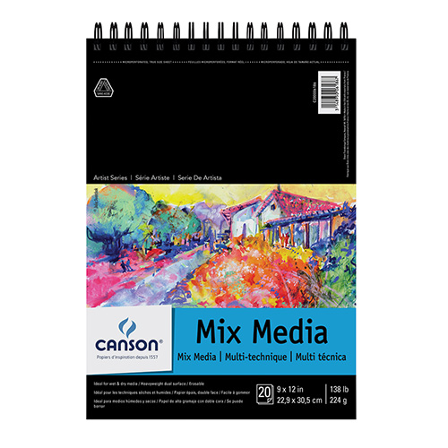 Szkicownik Canson artbook mix media 224g 40ark spirala