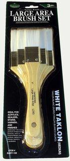 Royal komplet 3 płaskich pędzli białe syntetyczne włosie RL150