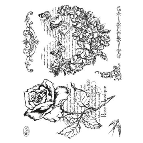Viva Decor stemple silikonowe serce z kwiatów i róża