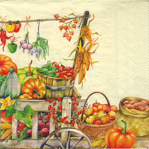 Serwetka do decoupage 4-IHR L457760 bountiful crop cream