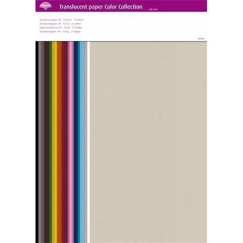 Papier do embossingu zestaw 23 kolory 150g A4