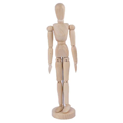 Manekin drewniany (kobieta) - wysokość 30 cm
