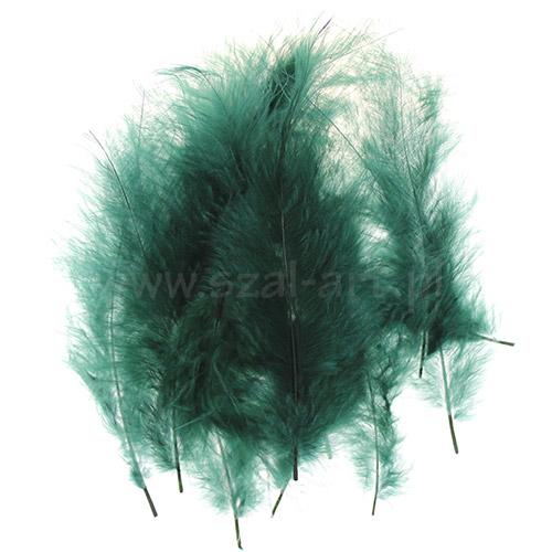 Piórka dekoracyjne dł. ok.12cm zielone
