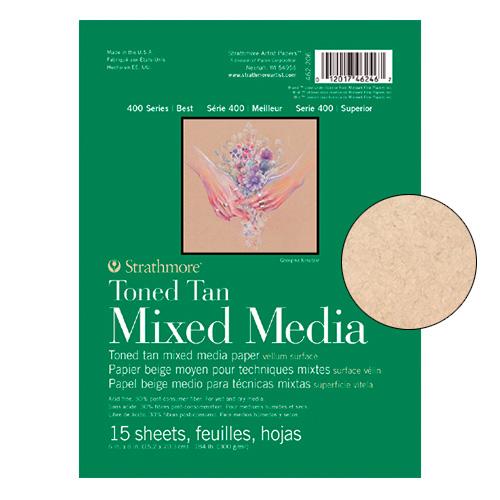 Blok Strathmore s.400 toned tan mix media 300g 15ark