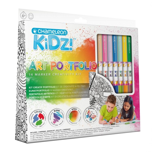 Chameleon kidz portfolio 14 color creativity kit