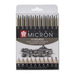 Sakura pigma micron zestaw 10 cienkopisów