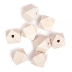 DP Craft drewniane koraliki geometryczne 20mm 8 sztuk