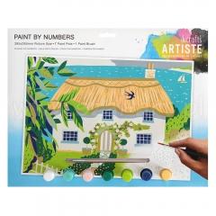 Artiste duży zestaw do malowania po numerach - wiejski domek