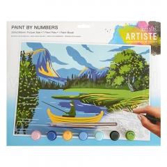 Artiste duży zestaw do malowania po numerach - jeziora i góry