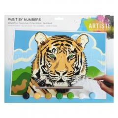 Artiste duży zestaw do malowania po numerach - tygrys