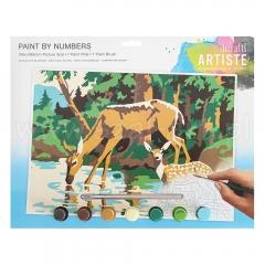 Artiste duży zestaw do malowania po numerach - jelenie