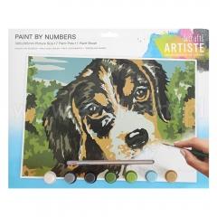 Artiste duży zestaw do malowania po numerach - pies