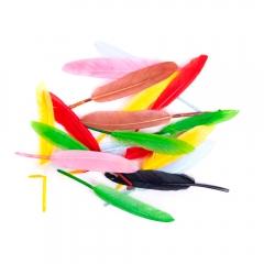 Piórka gęsie kolorowe 13cm 20 sztuk