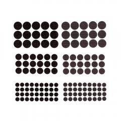 DP Craft rzepy samoprzylepne okrągłe czarne mix 69 sztuk
