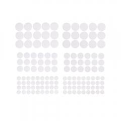 DP Craft rzepy samoprzylepne okrągłe białe mix 69 sztuk