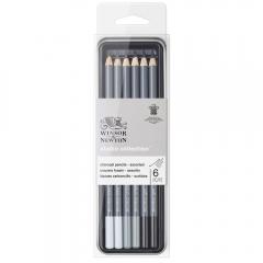 Winsor&Newton studio collection zestaw 6 ołówków z węgla drzewnego