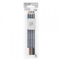 Winsor&Newton studio collection zestaw do szkicowania 4 ołówki + gumka