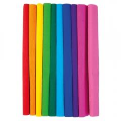 Happy Color bibuła marszczona 10 kolorów tęcza 50x200 cm