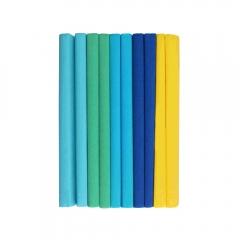 Happy Color bibuła marszczona 10 rolek mix 5 kolorów morskich 25x200cm