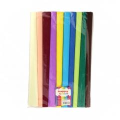 Happy Color bibuła marszczona 10 rolek mix kolorów 25x200cm