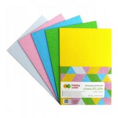Happy Color arkusze piankowe spring plusz A4 5 kolorów