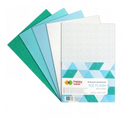 Happy Color arkusze piankowe ice flash A4 5 kolorów
