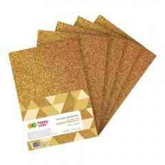 Happy Color arkusze piankowe brokatowe gold A4 5 arkuszy