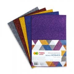 Happy Color arkusze piankowe brokatowe kosmos A4 5 kolorów