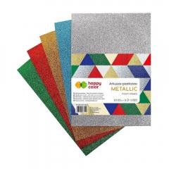 Happy Color arkusze piankowe metallic mix A4 5 kolorów