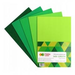Happy Color arkusze piankowe mix gree A4 5 kolorów