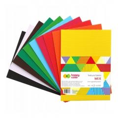 Happy Color tektura falista mix A4 10 kolorów