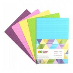 Happy Color tektura falista pastel A4 5 kolorów
