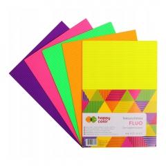Happy Color tektura falista fluo A4 5 kolorów