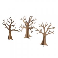 Happy Color zestaw kształtów tekturowych 3D trees 3 szt 18 i 20 cm