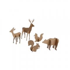 Happy Color zestaw kształtów tekturowych 3D forest animals 5 szt 9,20 cm