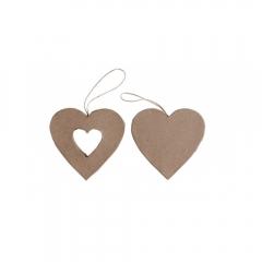 Happy Color kształty z papier mache hearts 2 szt 10x2,5 cm