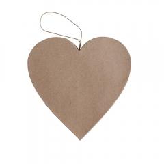 Happy Color kształt z papier mache big heart 19x2,5 cm