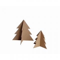 Happy Color zestaw kształtów tekturowych 3D christmas tree 2 szt 18 i 13 cm