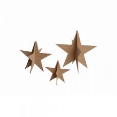 Happy Color zestaw kształtów tekturowych 3D stars 3 szt 18, 13, 9 cm
