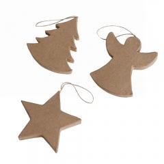 Happy Color kształty z papier mache christmas 3 szt 10x1,2 cm