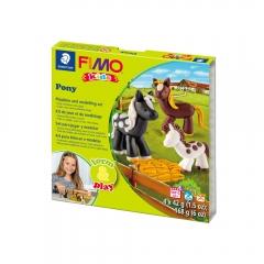 Fimo kids kucyki form&play zestaw modelin 4x42g