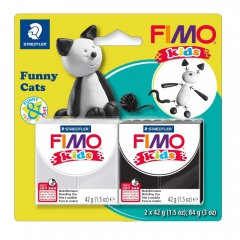 Fimo kids zestaw modelin 2x42g śmieszne koty
